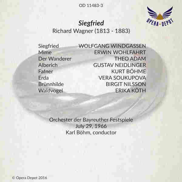 Siegfried 1966 07 29 Böhm Bayreuth Wagner Discography